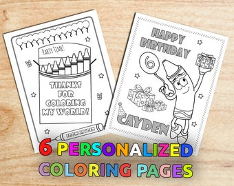 Painting Birthday Party Coloring Pages Colorful Art Gift Bag Favors Personalized Decorations Printable Digital PDF