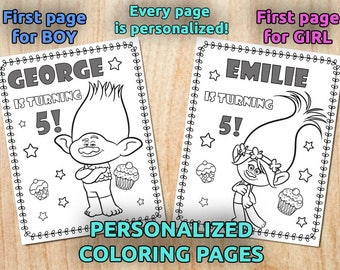 Tsum Tsum Disney Birthday Party Coloring Pages Personalized Etsy