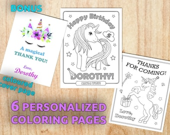 Coloring book favor | Etsy