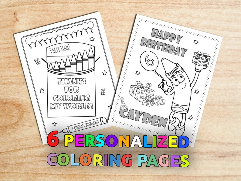 Painting Birthday Party Coloring Pages Colorful Art Party | Etsy