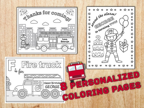 Firetruck #55 (Transportation) – Printable coloring pages | 428x570