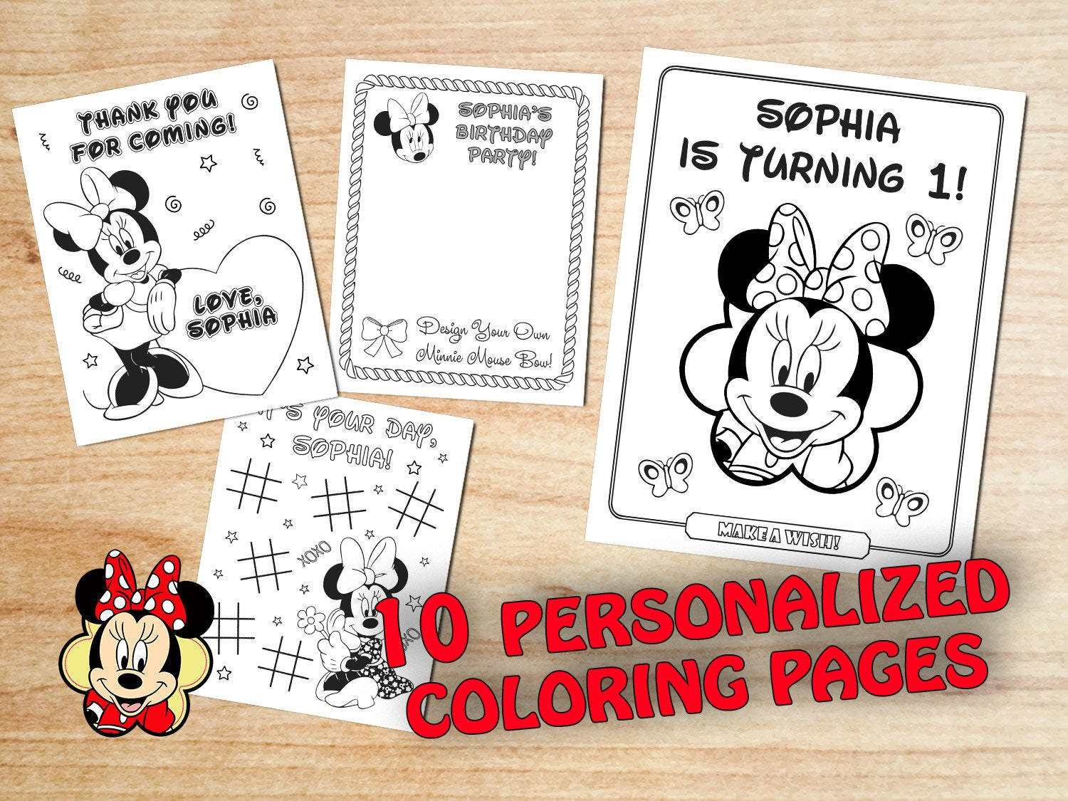 Coloring Pages Baby Minnie Party Ideas Free Printable bild Minnie ... | 1125x1500