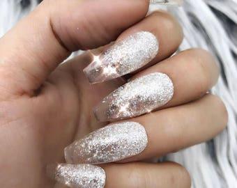 Glitter Ombre Nail Etsy