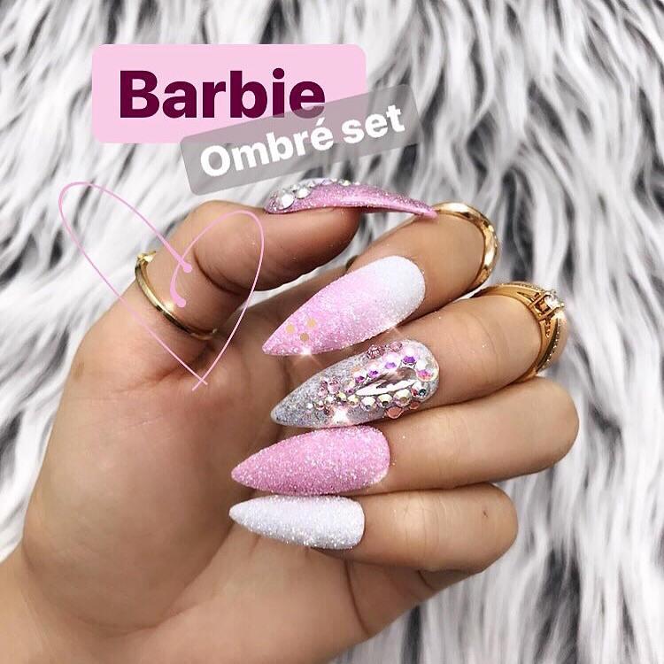 Barbie Pink Ombre Hologram Chrome Swarovski Crystal Fairy Dust ...