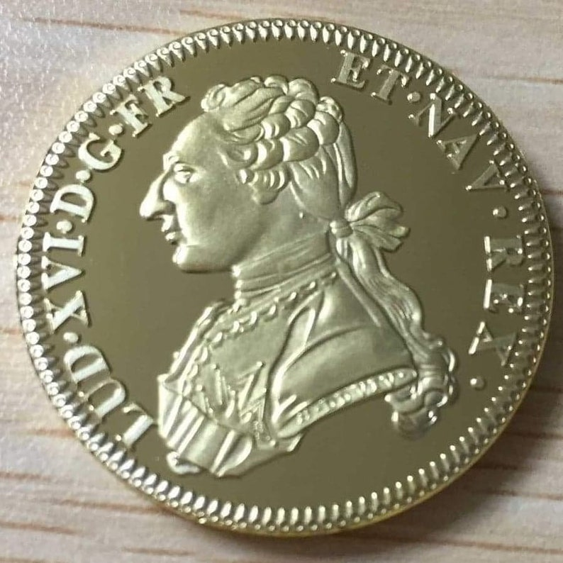 Reproduction of a double gold louis with a dressy bust 1778 image 0