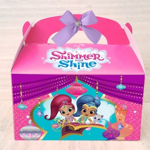 color box birthday party Personalized Candy Favor box front box desing custom