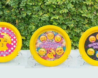 Emoji Paper Plate 12 pcs, your selection, your select Birthday decorations, parties, boys, girls,