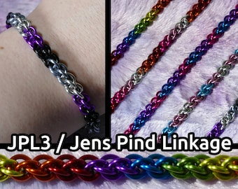 JPL3 / Jens Pind Linkage LGBTQ+ Pride Chainmail Bracelets - All Pride Flags Available - Customizable