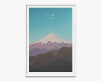 Mount Fuji, Japan (Mountain Art Print, Mountain Poster / Japanese Mountains, Tokyo, Gift)