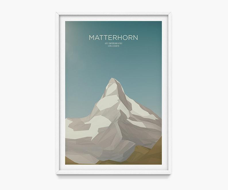 Matterhorn Switzerland  Italy Gallery-Quality Art Print image 0