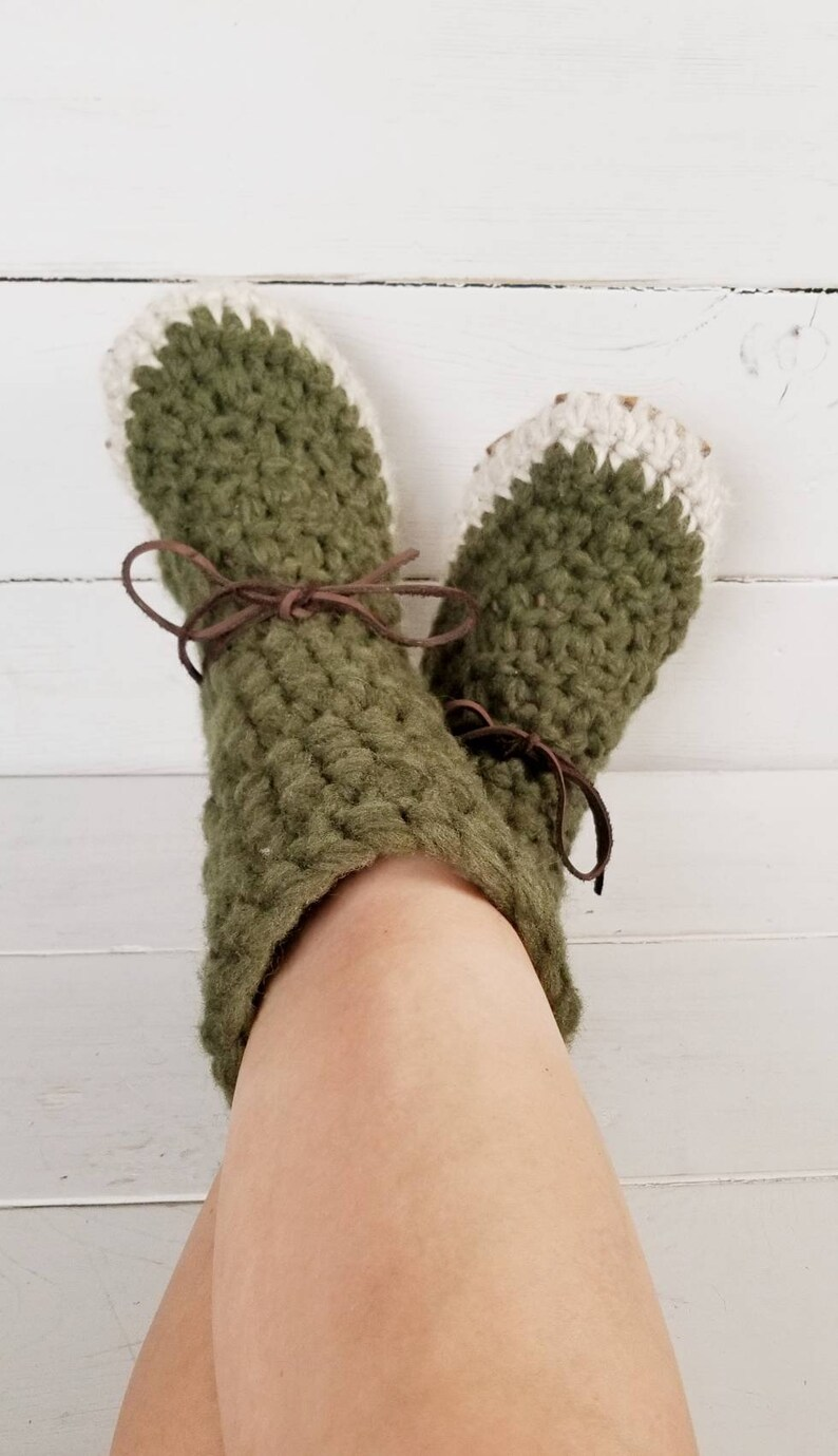 7af4e0e3a307f Womens/ladies demi boot Slippers/Mukluks by EcoSoles- custom colors,  Crochet/wool slippers, leather sole slippers, sheepskin lined slippers