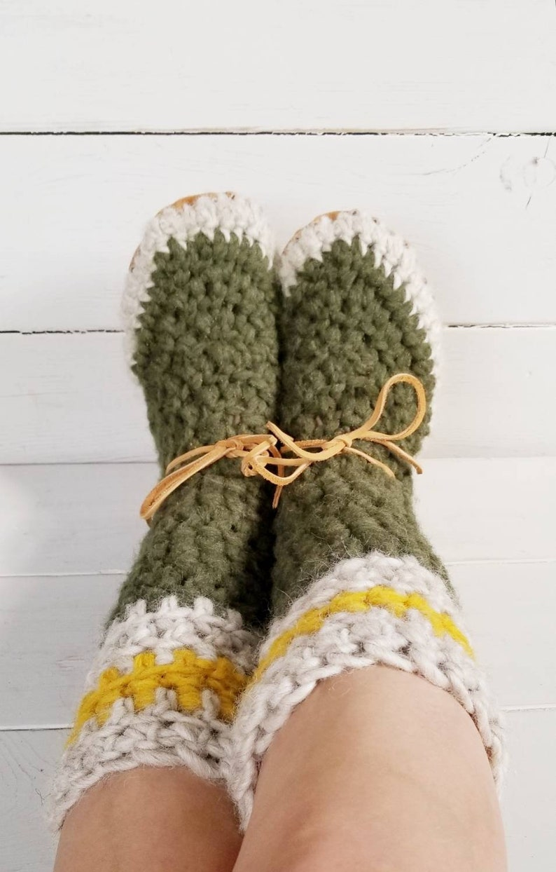 7c965760db721 Womens/ladies tall boot Slippers/Mukluks by EcoSoles- custom colors,  Crochet/wool slippers, leather sole slippers, sheepskin lined slippers