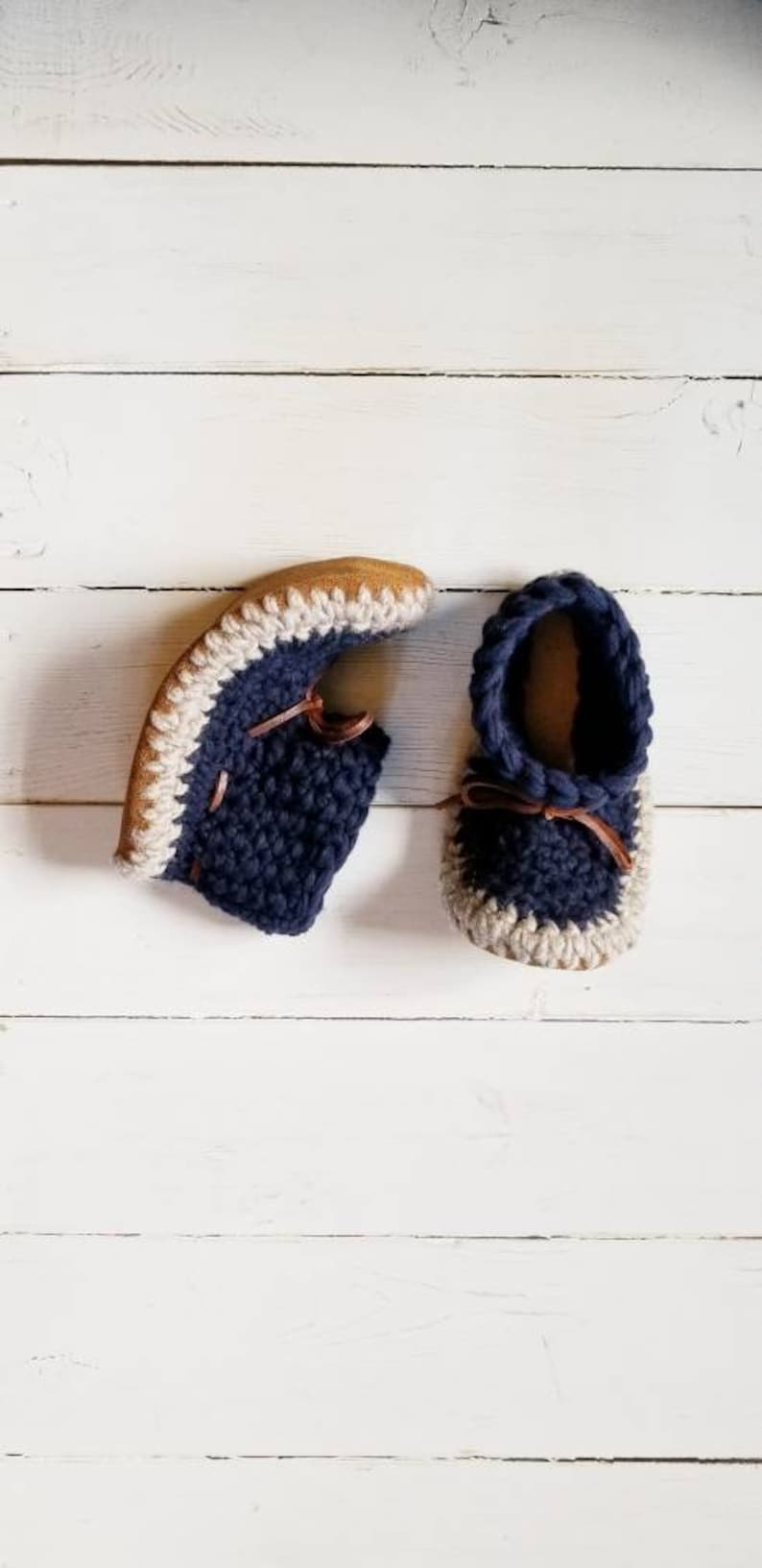 eff8f4fcc3672 Mens navy blue slippers by EcoSoles, Crochet slippers, Men's mukluks, Wool  slippers, Leather sole slippers, Sheepskin lined slippers