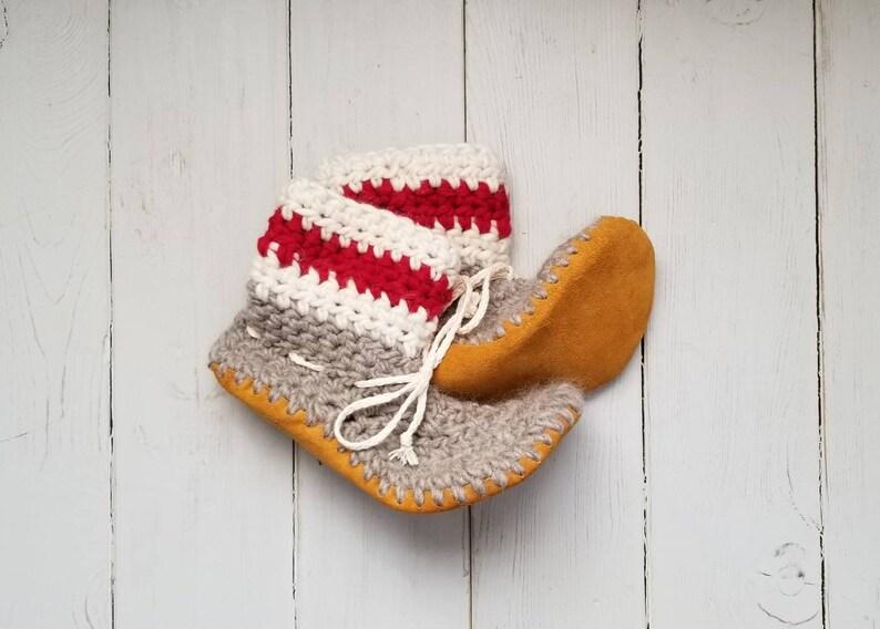 79a03f9875c02 Mens Lumberjack/Sock monkey slippers by EcoSoles, Crochet slippers, Wool  slippers, Leather sole slippers, Sheepskin lined slippers