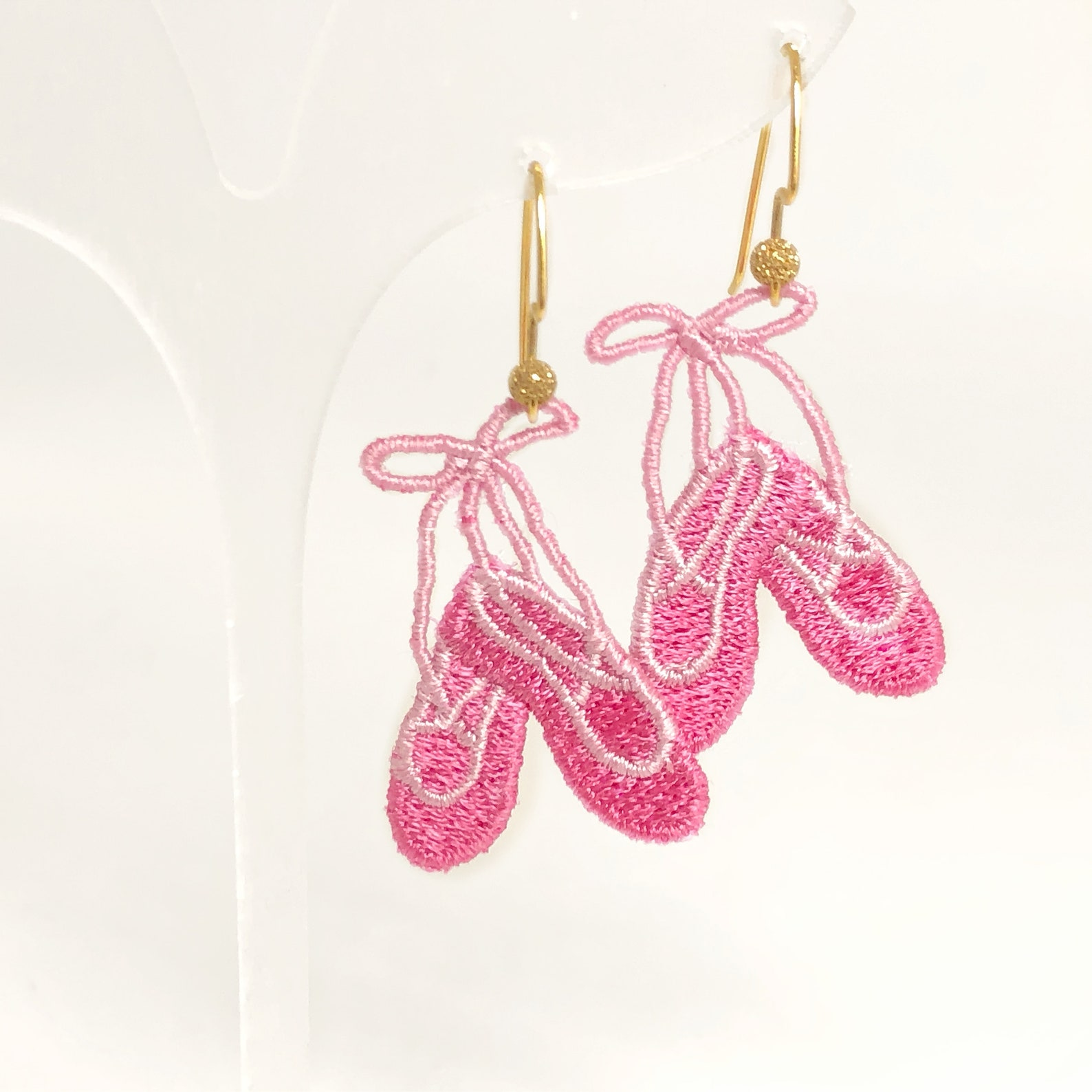 ballet shoes jewelry girls pointe earrings kids dance gifts ballerina earrings ballet dancer jewelry cute pink earrings lace lig