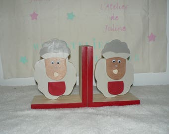 pair of greenhouses wooden sheep books