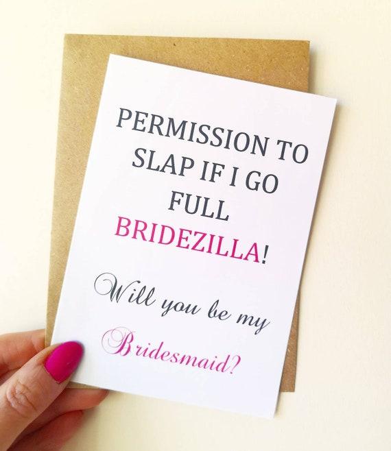 Funny will you be my bridesmaid card maid of honour chief bridesmaid pinterest bridal party wedding bridesmaid proposal Rock Flock