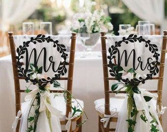 Mr and Mrs Chair Sign #101CS Digital File Instant Download Wedding Decor DIY Bride and Groom Sign Printable Wedding Chair Sign