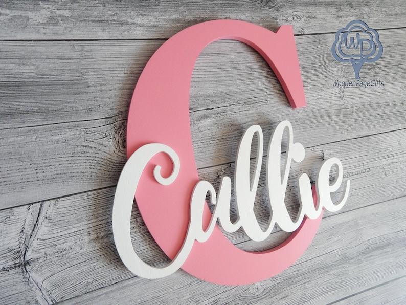 Name des Zeichen Buchstaben personalisierte Holz Kinderzimmer | Etsy