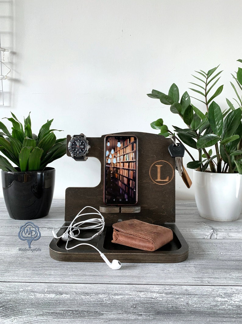 Docking Station gift for husband gift for men  Personalized image 1