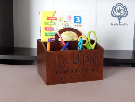 Exceptionnel Wood Desk Organizer Harry Potter Fans Office Supplies Pencil | Etsy