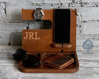 Docking station/Valentines day gift/Wood Docking stand/Iphone Charging station/Fathers day gift/Dad Birthday Gifts/Dad Gifts/Gift for dad