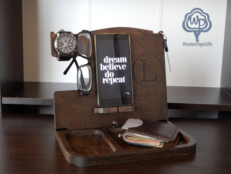 Docking Station gift for husband gift for men  Personalized image 0