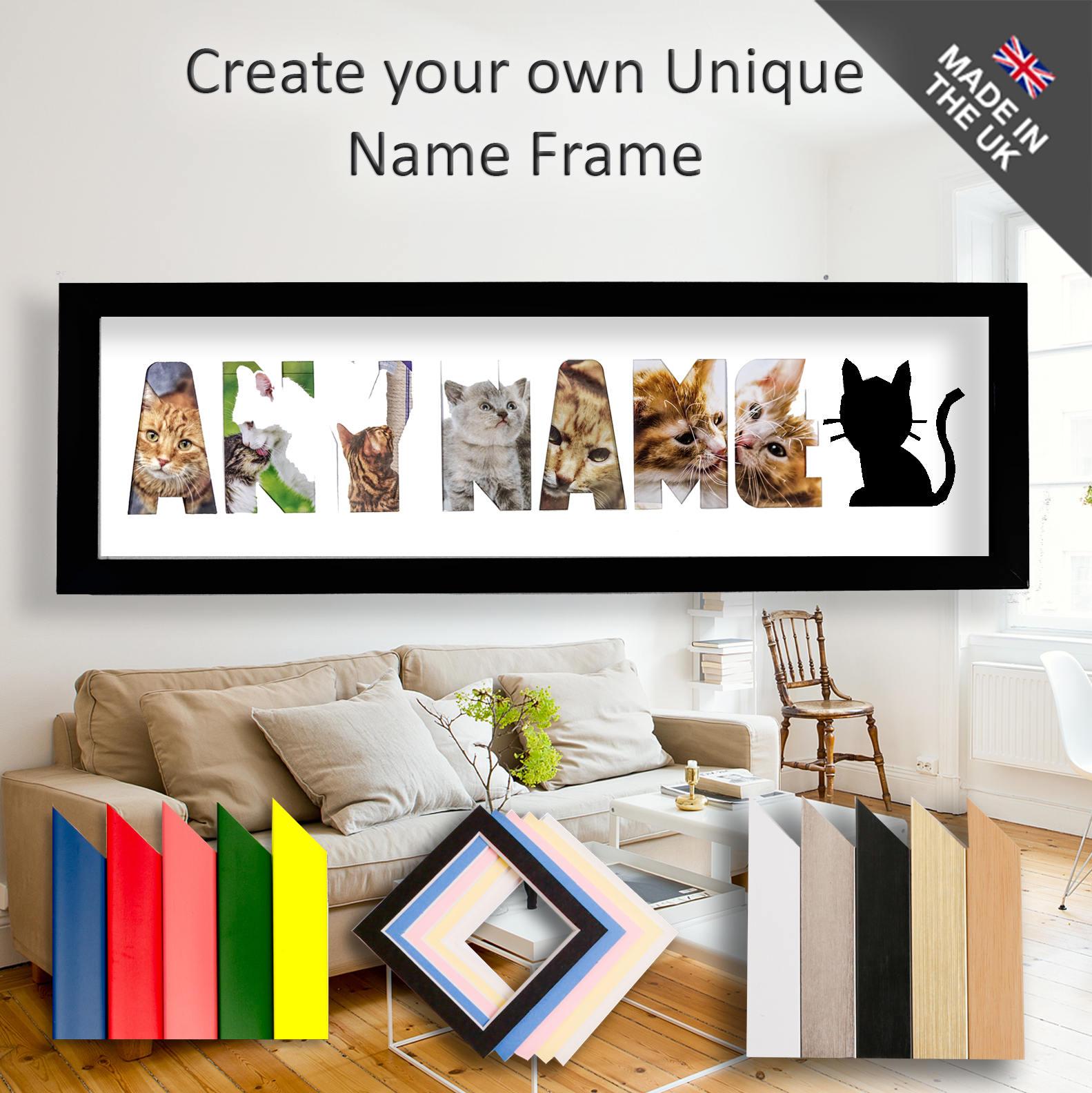 Katze Rahmen jeder Name Bilderrahmen einzigartige