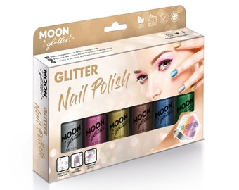 Holographic Glitter Nail Polish by Moon Glitter - 14ml - Boxset
