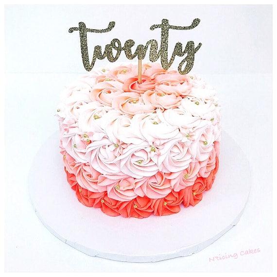 TWENTY 20th Birthday Cake Topper Custom
