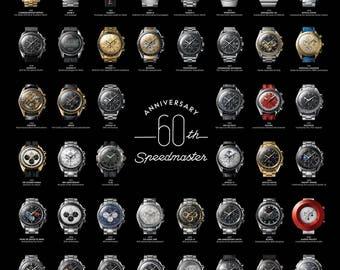 Omega Speedmaster 60th Anniversary Poster (BIG)