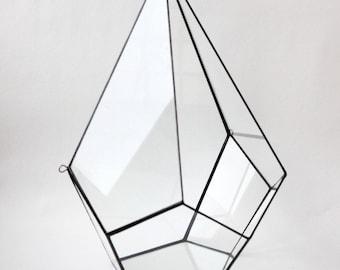 Wall Planter. Teardrop Planter. Stained Glass Planter. Geometric Terrarium Container. Glass terrarium. Air plant. Geometric Home Decor