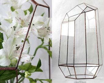 Geometric Terrarium. Geometric Decor. Stained Glass terrarium Container. Orchid  Geometric Terrarium. Terrarium Container. Glass Terrarium