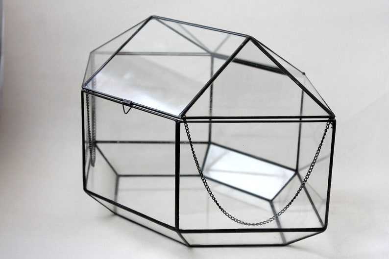 Wedding Card Box Big Geometric Glass Wedding Display Box Etsy