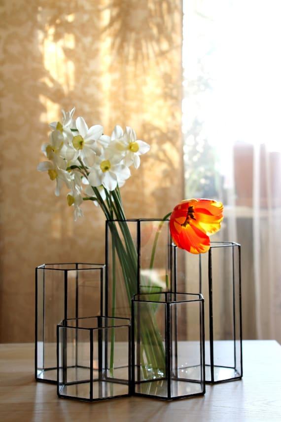 diam/ètre 8 cm Verre Bougeoir Transparent Boule Jardin miniatures Plant Glass Terrarium Home Wedding Decoration Centres de table Ensemble De 18 Photophore Boule en Verre