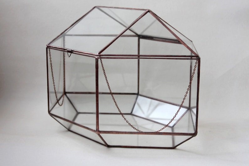Wedding Card Box Geometric Glass Wedding Display Box Glass Etsy
