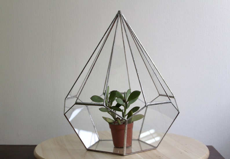 Geometric Terrarium Terrarium Stained Glass Terrarium Etsy