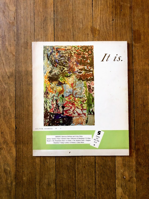 It Is A Magazine For Abstract Art Number 2 Spring 1960 New York City