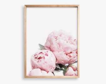 Flower Print, Floral Poster, Peonies Photo, Pink Peonies Print, Peony, Wall Art, Wall Decor, Gift for Her, Peonies Print, Botanical Print