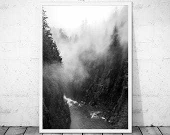 Mountains Wall Art, Forest Nature Print, Black and White Mountains, Nature Print, Wanderlust Art, Mountains Art, Mountains Photo, Nature Art