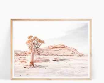 African Desert Tree Print - Quiver Tree Photography - Namibia Print - Nature Poster