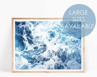 Ocean Wall Art, Ocean Print, Sea Print, Ocean Printable, Scandi Print, Ocean Photo, Nature Art, Beach Print, Ocean Waves, Coastal Wall Art