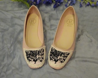 Soft Pink Printed Cat Shoes