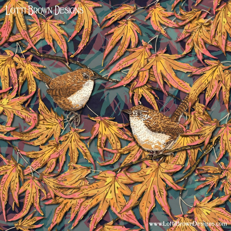 Wren Print unframed British Birds Print Bird Lover Gift image 0