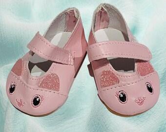 Monique Doll Classic Ankle Strap Shoe 28mm Pink