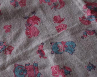 1 Cute Chicks and cats flannel soft flannel fabric 1