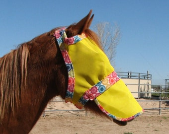 Extended Nose Horse Fly Masks with Removeable Nose Piece! 10 Sizes - Dual Adjustments - 3 Levels of Shade Factors