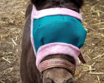 4XS Mini Horse Foal Fly Masks - Type-A Miniature Foals (Under 25 lbs) - Made to Order - Dual Adjustment