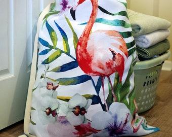 Flamingo Laundry Bag - Great for Beach Travel