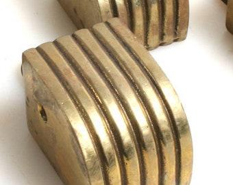Brass Feet, Set of 4//Art Deco//DIY//Reuse Project